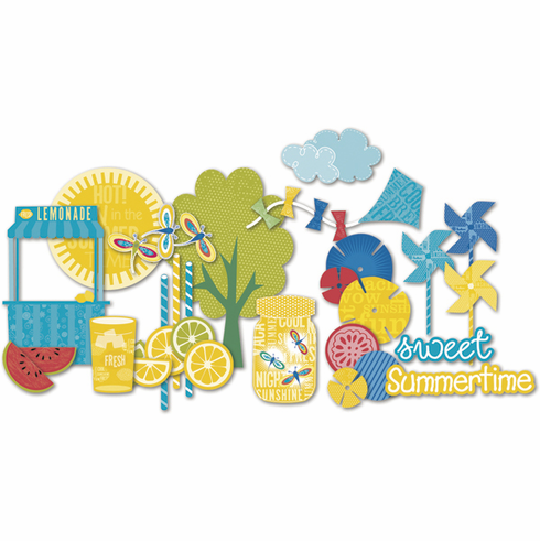 Little Yellow Bicycle: Sweet Summertime - Chipoard Shapes - S/O
