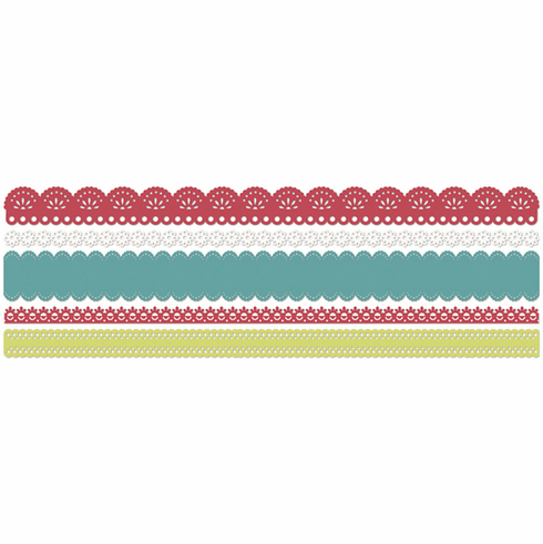 Little Yellow Bicycle: Sweet Summertime - Crepe Paper Lace Stickers Borders - S/O