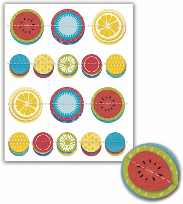 Little Yellow Bicycle Sweet Summertime Dimensional Pop-Up Stickers