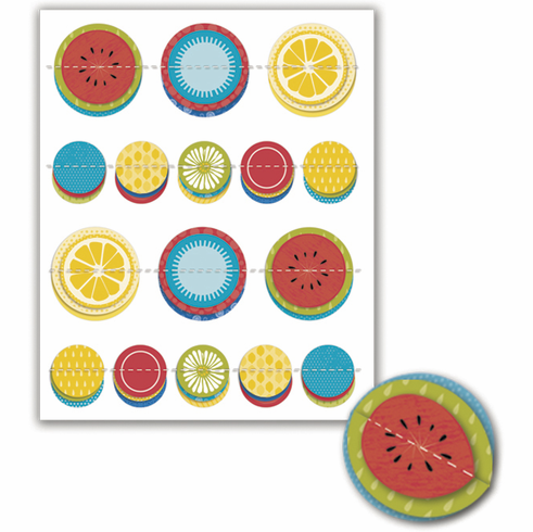 Little Yellow Bicycle Sweet Summertime Dimensional Pop-Up Stickers (S/O)