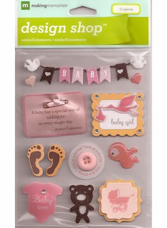 Making Memories: Design Shop Stickers - Baby Girl (E)