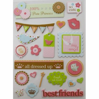 Making Memories: Dimensional Chipboard Stickers - Girl - S/O