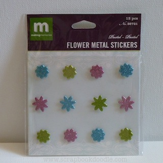 Making Memories: Flower Metal Stickers - Pastel (E)