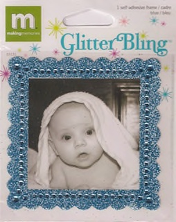 Making Memories: Glitter Bling - Blue Square Frame (E)