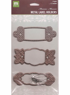 Making Memories: Metal Label Holders Moroccan (E)