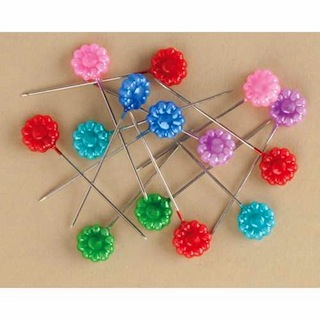 Making Memories: Vintage Findings - Flower Pins 12/pkg (E)