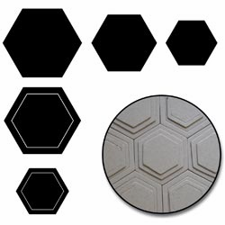 Maya Road - Chipboard Set - Hexagons (S/O)