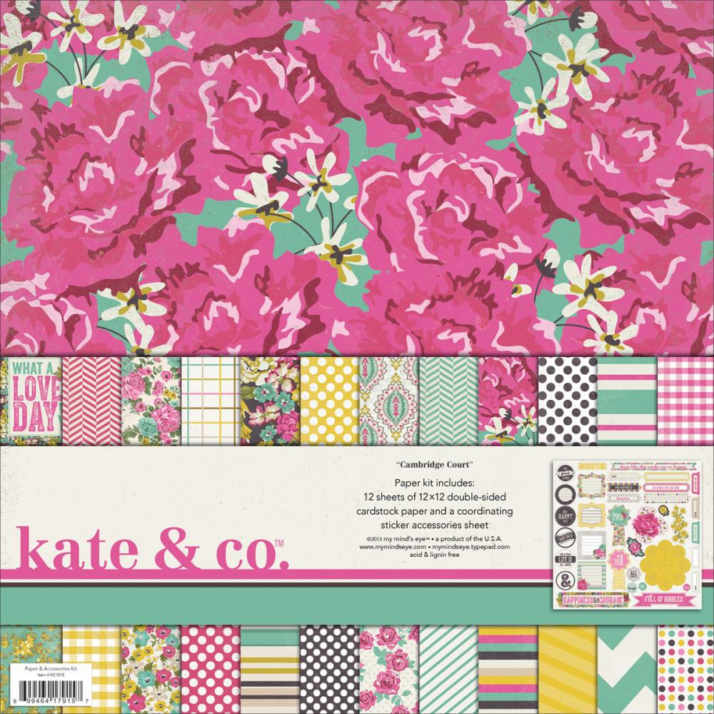 My Minds Eye - Kate & Co. - Cambridge Court - Paper & Accessories Kit 12x12 - S/O