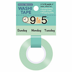 October Afternoon: 9 to 5 - Washi Tape Days Of The Week - S/O