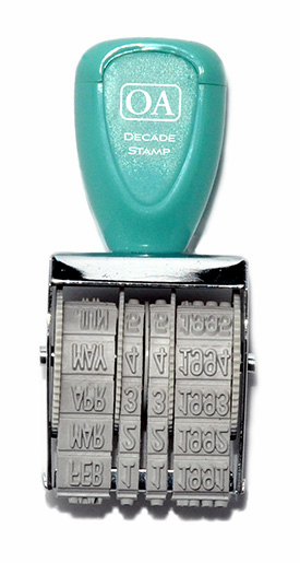 October Afternoon - Daily Flash - Decade Roller Stamp - 1980's (E)