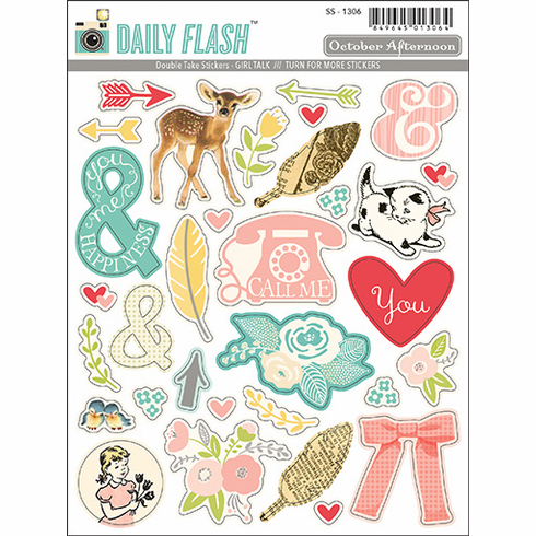October Afternoon - Daily Flash Girl Talk - Double Take Stickers (S/O)