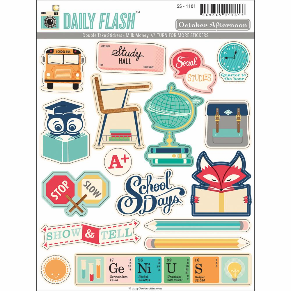 October Afternoon - Daily Flash Milk Money - Double Take Stickers
