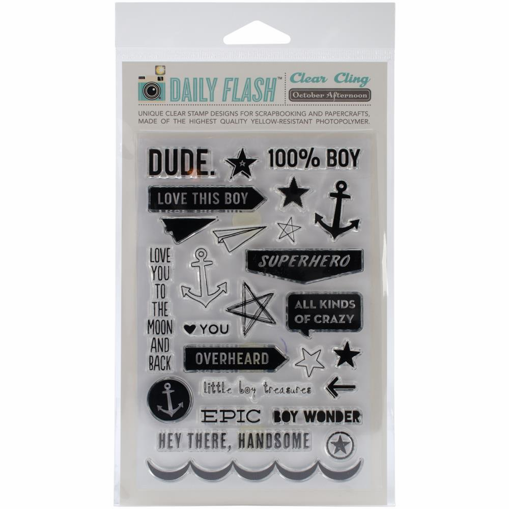 October Afternoon - Daily Flash - Stamp Set - Dude (S/O)