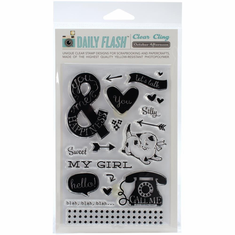 October Afternoon - Daily Flash - Stamp Set - Hey Girl (S/O)