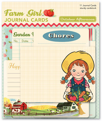October Afternoon - Farm Girl - Journal Cards  - S/O