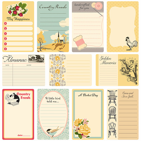 October Afternoon: Farmhouse - Journal Cards 11/Pkg (S/O)