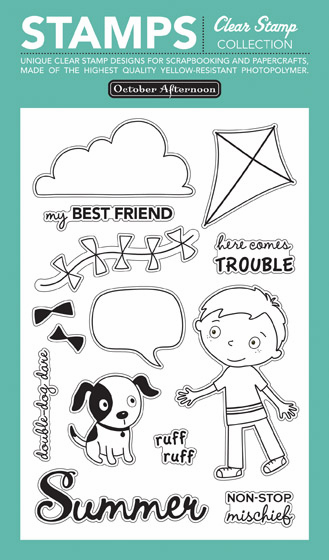 October Afternoon: Fly a Kite - Tales Clear Stamps (S/O)