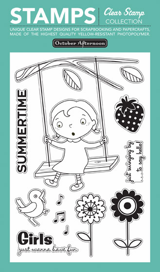 October Afternoon: Fly a Kite - Tree Swing Clear Stamps (S/O)