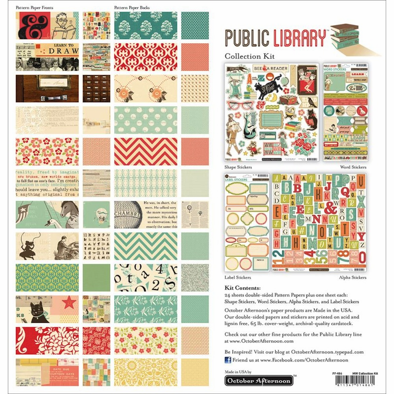 October Afternoon - Public Library - Collection Kit 12x12 - S/O