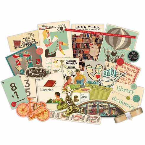 October Afternoon - Public Library - Miscellany Embellishment Assortment - S/O