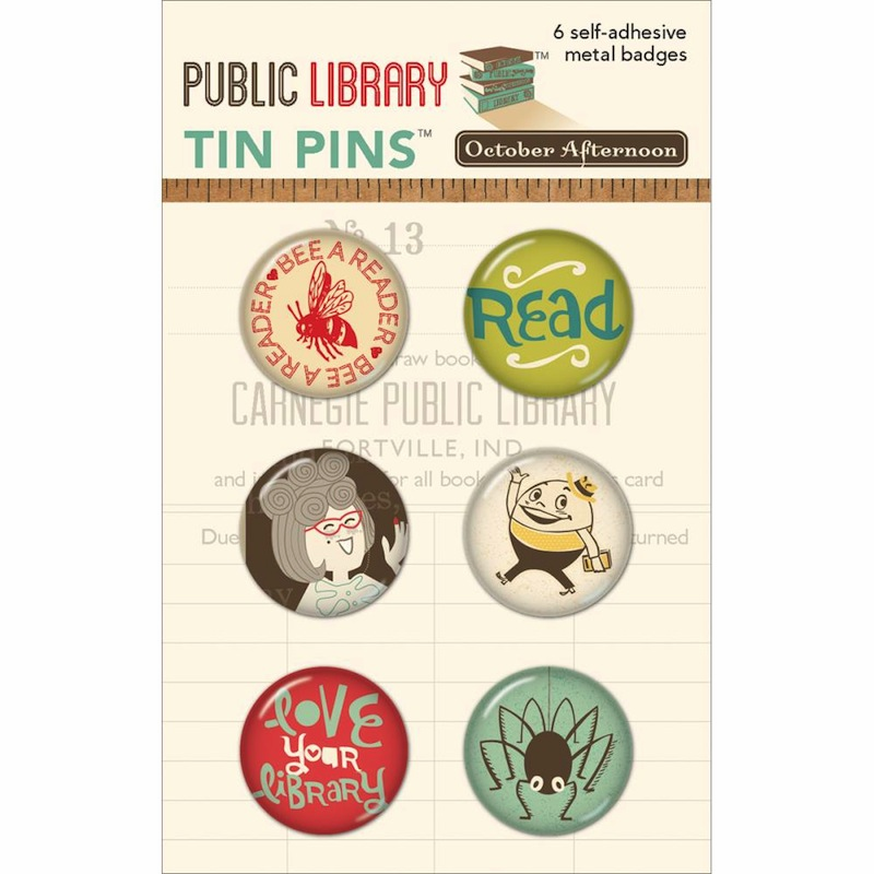 October Afternoon - Public Library - Tin Pins - S/O