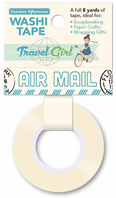 October Afternoon - Travel Girl - Washi Tape Airmail (S/O)