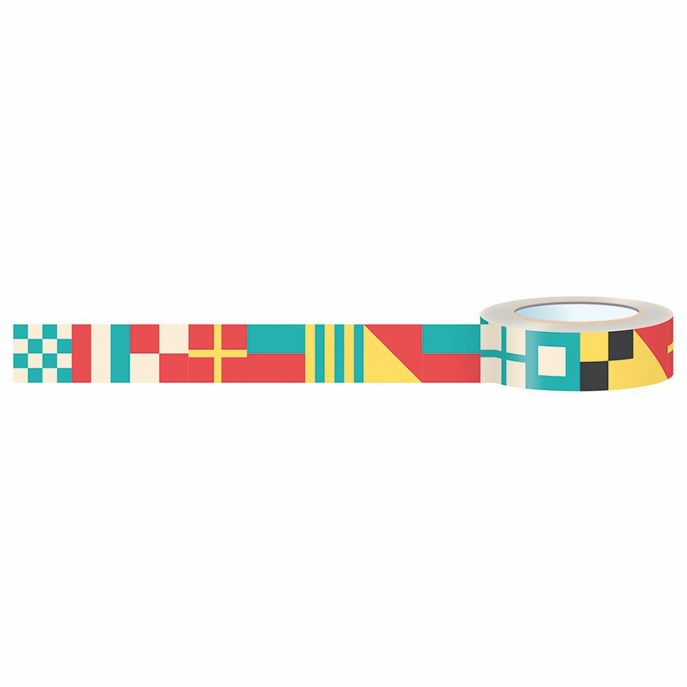 October Afternoon Treasure Map Nautical Flags Washi Tape