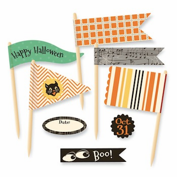 October Afternoon - Witch Hazel - Little Flyers Flag Kit (S/O)