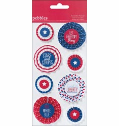 Pebbles: Let Freedom Ring - Accordion Pennants (E)