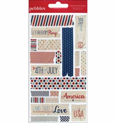 Pebbles: Let Freedom Ring - Masking Tape Stickers (E)