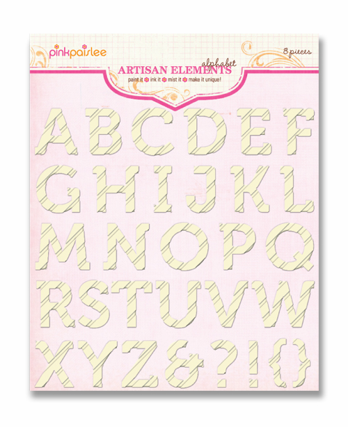 Pink Paislee: Artisan Elements - Alphabets