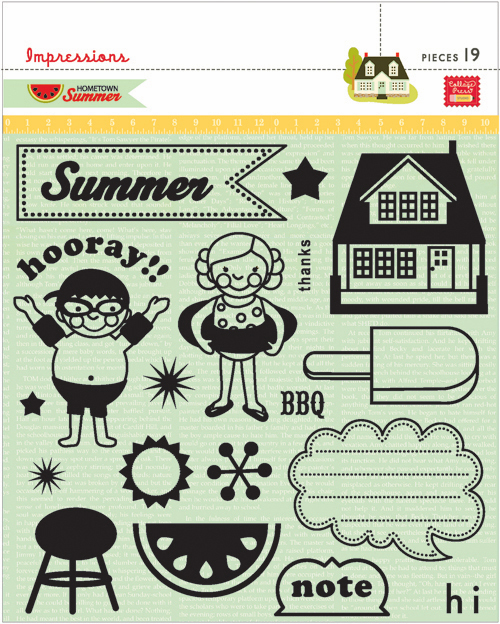 Pink Paislee: Hometown Summer - Clear Stamps (S/O)