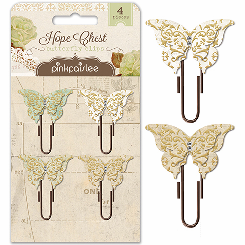 Pink Paislee - Hope Chest - Butterfly Clips (S/O)