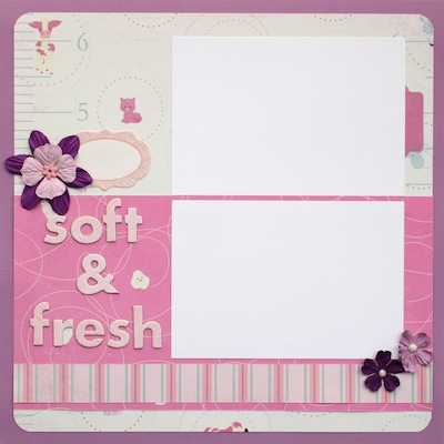 Premade Scrapbook Page - Baby Girl - Soft & Fresh - S/O