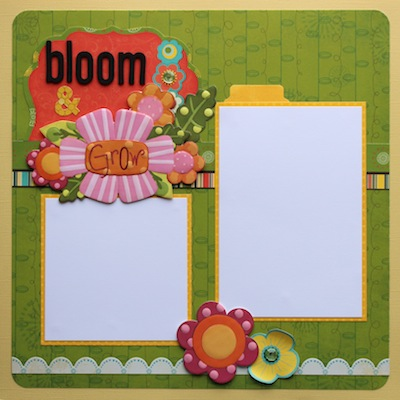 Premade Scrapbook Page - Bloom & Grow - S/O
