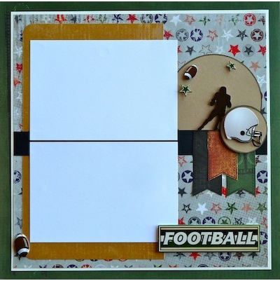 Premade Scrapbook Page - Football