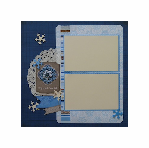 Premade Scrapbook Page - My Little Snowflake