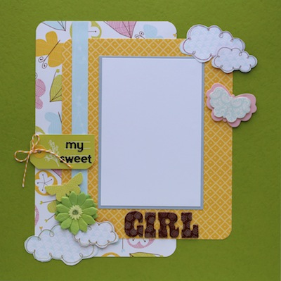 Premade Scrapbook Page - My Sweet Girl - S/O
