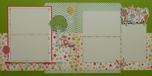 Premade Scrapbook Pages - Celebrate