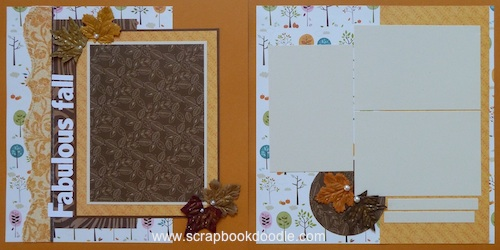 Premade Scrapbook Pages - Fabulous Fall