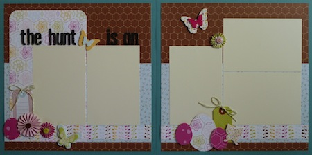 Premade Scrapbook Pages - The Hunt Is On