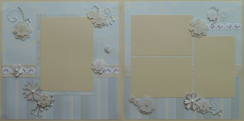 Premade Scrapbook Pages - Wedding - S/O