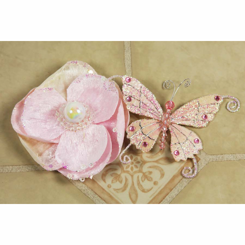 Prima Flowers: Andorra with Butterfly - Pink Pearl (E)