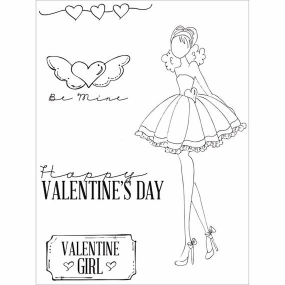 Prima - Julie Nutting - Cling Stamp - Love Day (E)