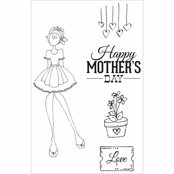 Prima - Julie Nutting - Cling Stamp - Mama's Day