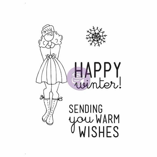 Prima - Julie Nutting - Cling Stamp - Warm Wishes - S/O