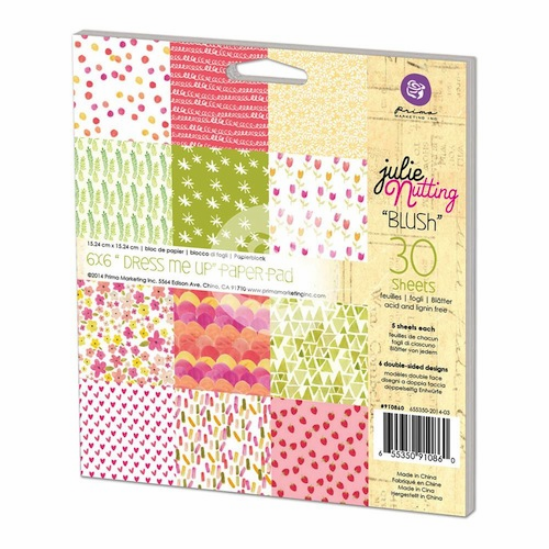 "Prima Julie Nutting ""Dress Me Up"" 6x6 Paper Pad Blush (E)"