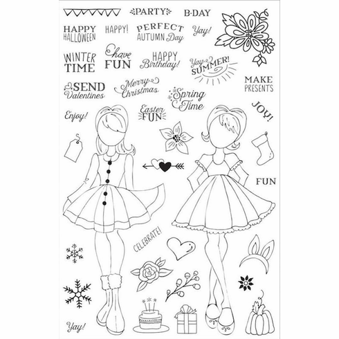Prima Julie Nutting Holiday Bliss Planner Clear Stamps