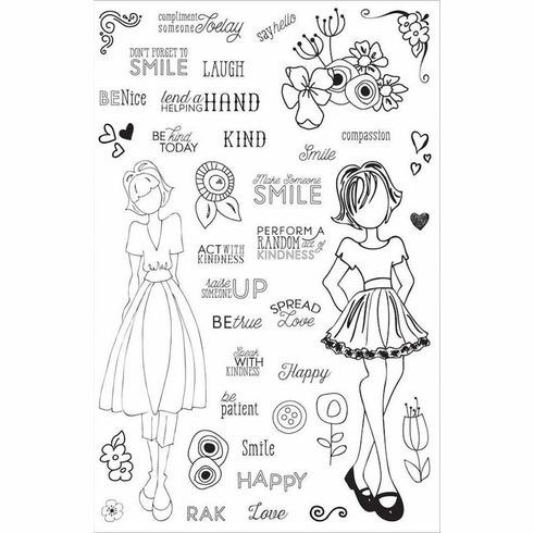 Prima Julie Nutting Make Kindness Happen Planner Clear Stamps