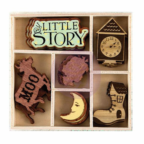 Prima - Laser-Cut Wood Icons In A Box - Bedtime Story (E)